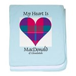 Heart - MacDonald of Glenaladale baby blanket