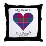 Heart - MacDonald of Glenaladale Throw Pillow