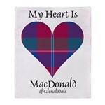 Heart - MacDonald of Glenaladale Throw Blanket