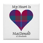 Heart - MacDonald of Glenaladale Tile Coaster