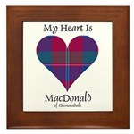 Heart - MacDonald of Glenaladale Framed Tile