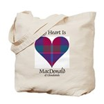 Heart - MacDonald of Glenaladale Tote Bag