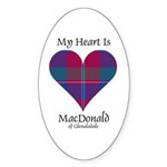 Heart - MacDonald of Glenaladale Sticker (Oval 50