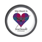 Heart - MacDonald of Glenaladale Wall Clock