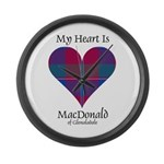 Heart - MacDonald of Glenaladale Large Wall Clock