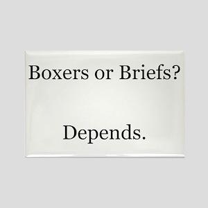 Boxers Briefs Depends Rectangle Magnet