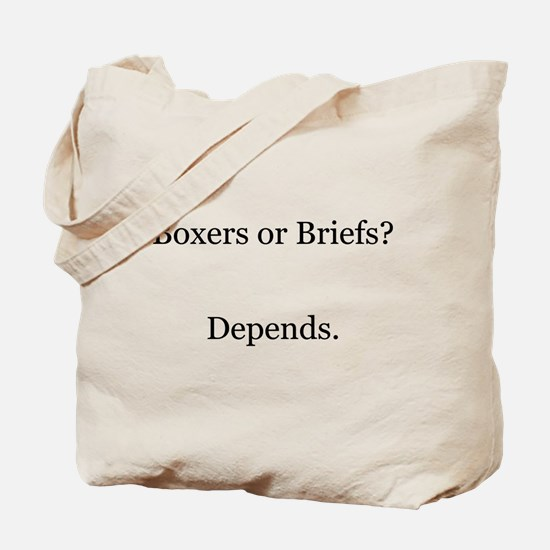 Boxers Briefs Depends Tote Bag