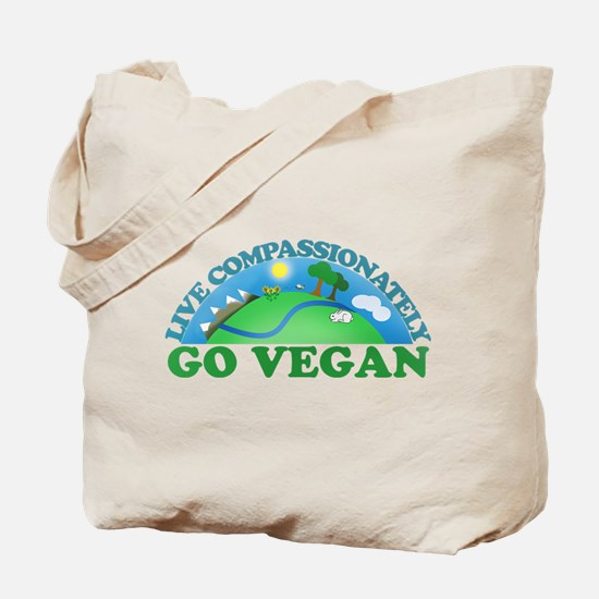 Live Compassionately Tote Bag