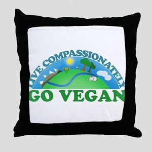 Live Compassionately Throw Pillow