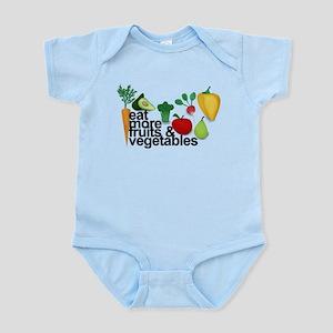 Eat Fruits & Vegetables Infant Bodysuit