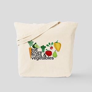 Eat Fruits & Vegetables Tote Bag
