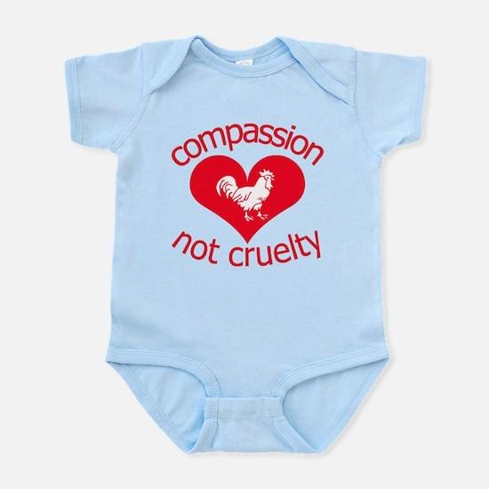 Compassion not cruelty Infant Bodysuit