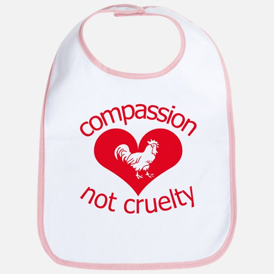 Compassion not cruelty Bib