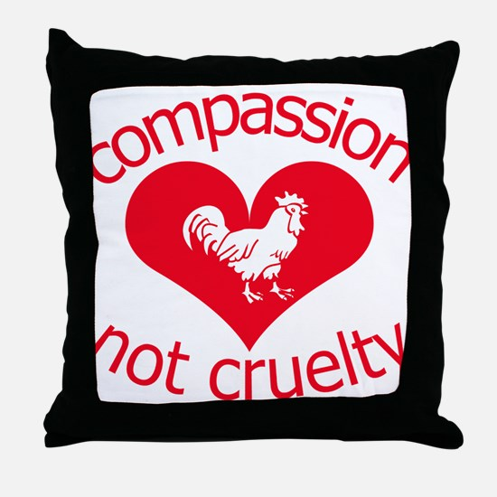 Compassion not cruelty Throw Pillow