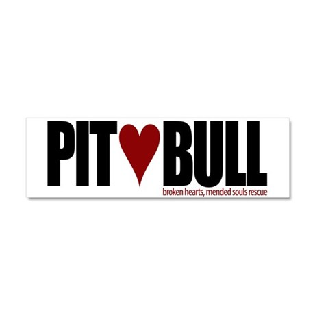 Pit (Love) Bull - Car Magnet 10 x 3