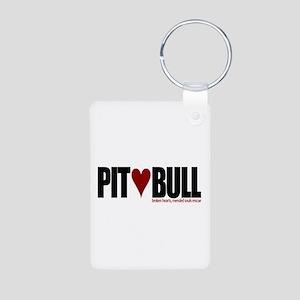 Pit (Love) Bull - Aluminum Photo Keychain