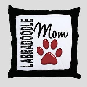 Labradoodle Mom 2 Throw Pillow