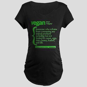 Vegan: Defined Maternity Dark T-Shirt