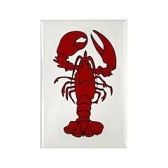 Lobster Rectangle Magnet (100 pack)