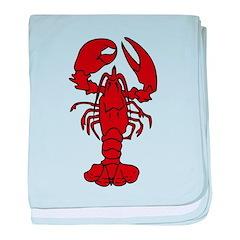 Lobster baby blanket