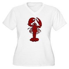 Lobster Women's Plus Size V-Neck T-Shirt