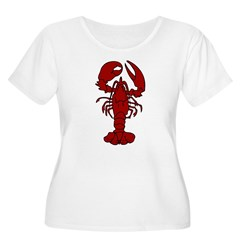Lobster Women's Plus Size Scoop Neck T-Shirt