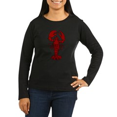 Lobster Women's Long Sleeve Dark T-Shirt