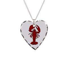 Lobster Necklace Heart Charm