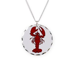 Lobster Necklace Circle Charm