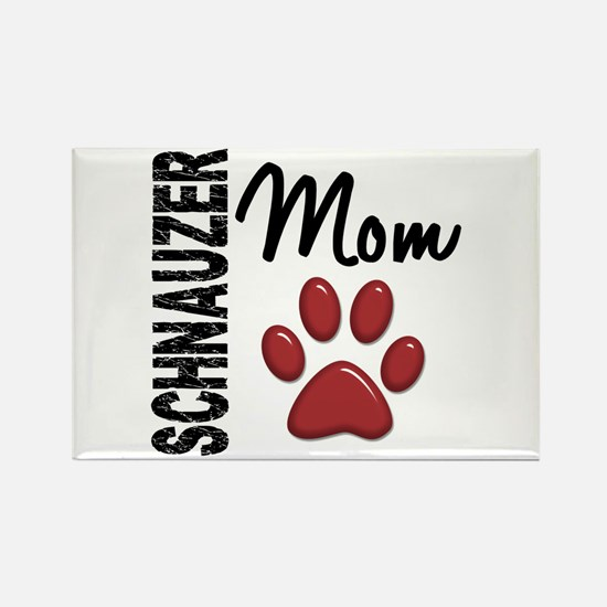 Schnauzer Mom 2 Rectangle Magnet (100 pack)