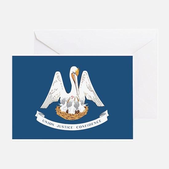 Louisiana State Flag Greeting Card