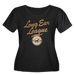 Long Ear League Women's Plus Size Scoop Neck Dark