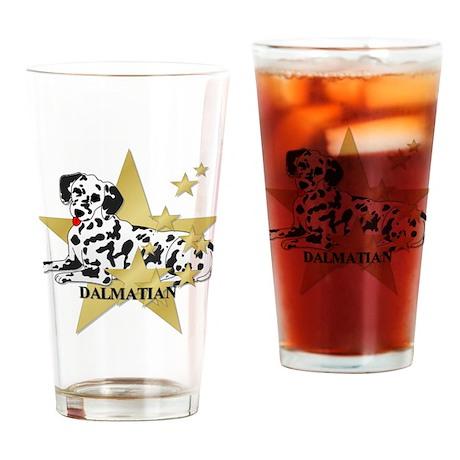 Dalmatian Stars Drinking Glass