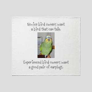 Noisy Bird Throw Blanket