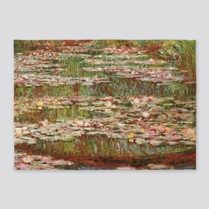 Monet's Water Lily Pond 5'x7'Area Rug