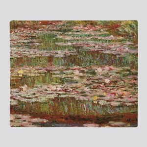 Monet's Water Lily Pond Throw Blanket