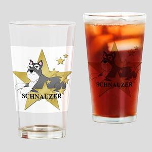 Schnauzer Stars Drinking Glass