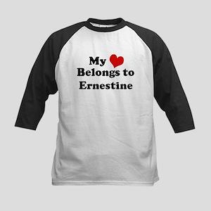 My Heart: Ernestine Kids Baseball Jersey