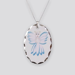 Angel Necklace Oval Charm