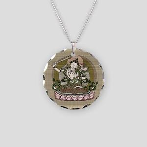 Vintage Tibet Necklace Circle Charm