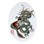 DragonGuitar(T) Ornament (Oval)