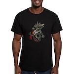 DragonGuitar(T) Men's Fitted T-Shirt (dark)