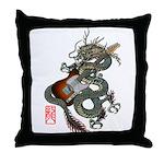 DragonGuitar(T) Throw Pillow