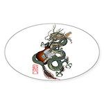 DragonGuitar(T) Sticker (Oval 10 pk)