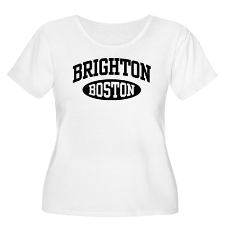 Brighton Boston Women's Plus Size Scoop Neck T-Shi