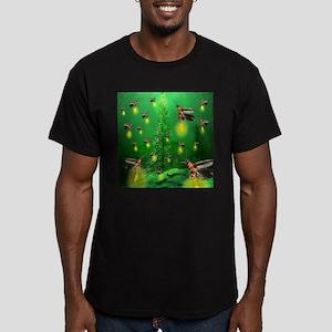 Firefly Christmas Tree Men's Fitted T-Shirt (dark)