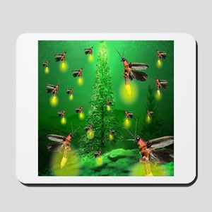 Firefly Christmas Tree Mousepad