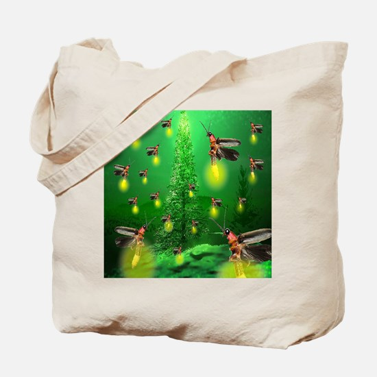 Firefly Christmas Tree Tote Bag