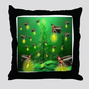 Firefly Christmas Tree Throw Pillow