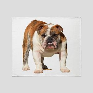 Bulldog Items Throw Blanket